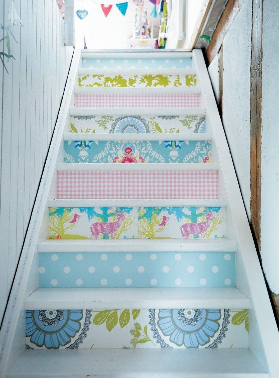 Best Wall Paper On Stair Risers Ikea Family Live Magazine 400 x 300