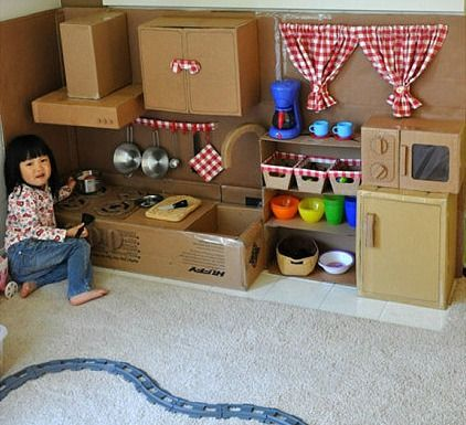 Resultado De Imagen Para Cocinas Para Ninas En Carton Diy Play Kitchen Cardboard House Cardboard Kitchen