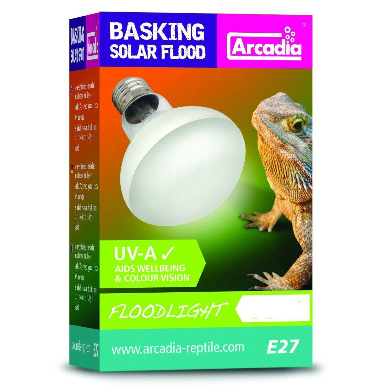 Arcadia Basking Solar Flood Heat Lamp 100w Fraser Promotions Ltd Heat Lamps Solar Flood