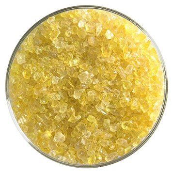 90COE Made From Bullseye Glass New Hampshire Craftworks Canary Yellow Opalescent Coarse Frit 4oz