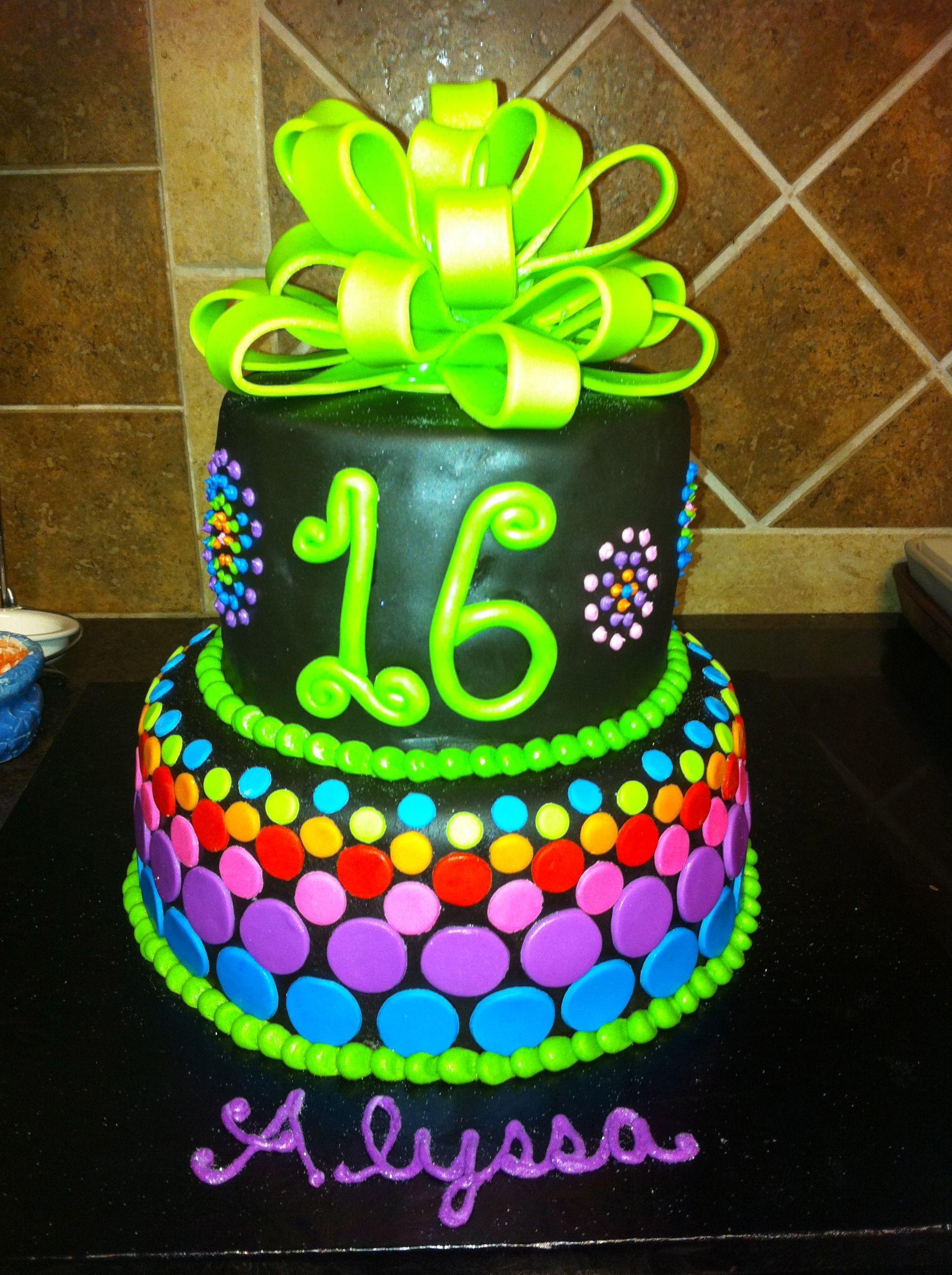 Neon Birthday Cake Things Ive Made Pinterest Neon Birthday - Neon birthday party cakes