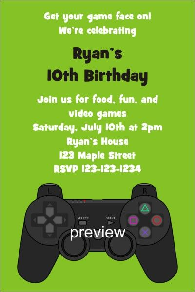 Xbox slumber party invite adult playstation xbox video game xbox slumber party invite adult playstation xbox video game invitation stopboris Images