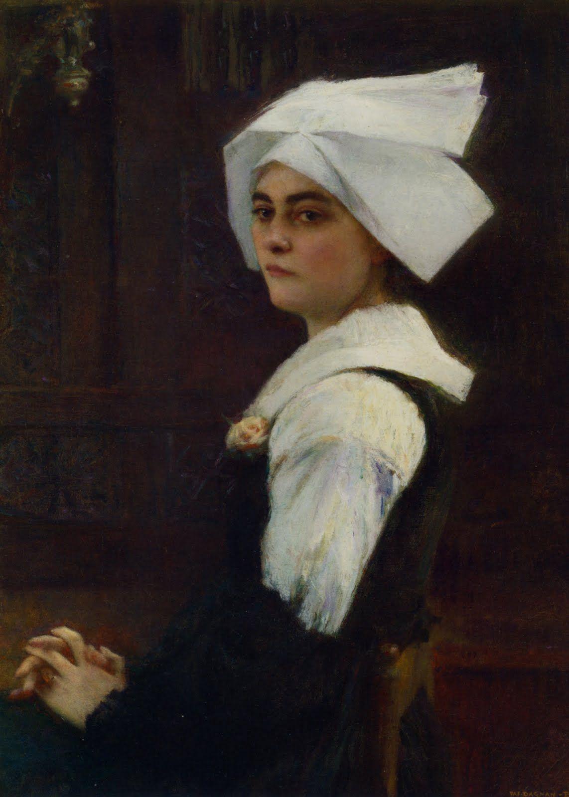 Dagnan_Bouveret_Portrait_of_Brittany_Girl.jpg (1142×1600)