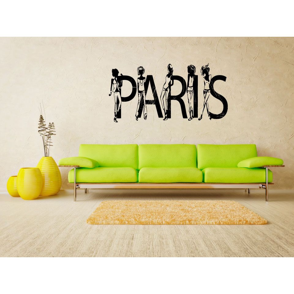 Fashionistas Paris Fashion Wall Art Sticker Decal | Products ...