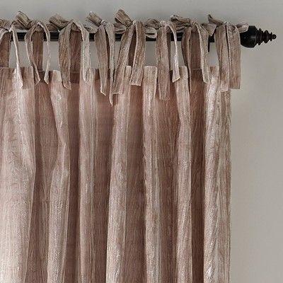 Crushed Velvet Window Curtain Panel