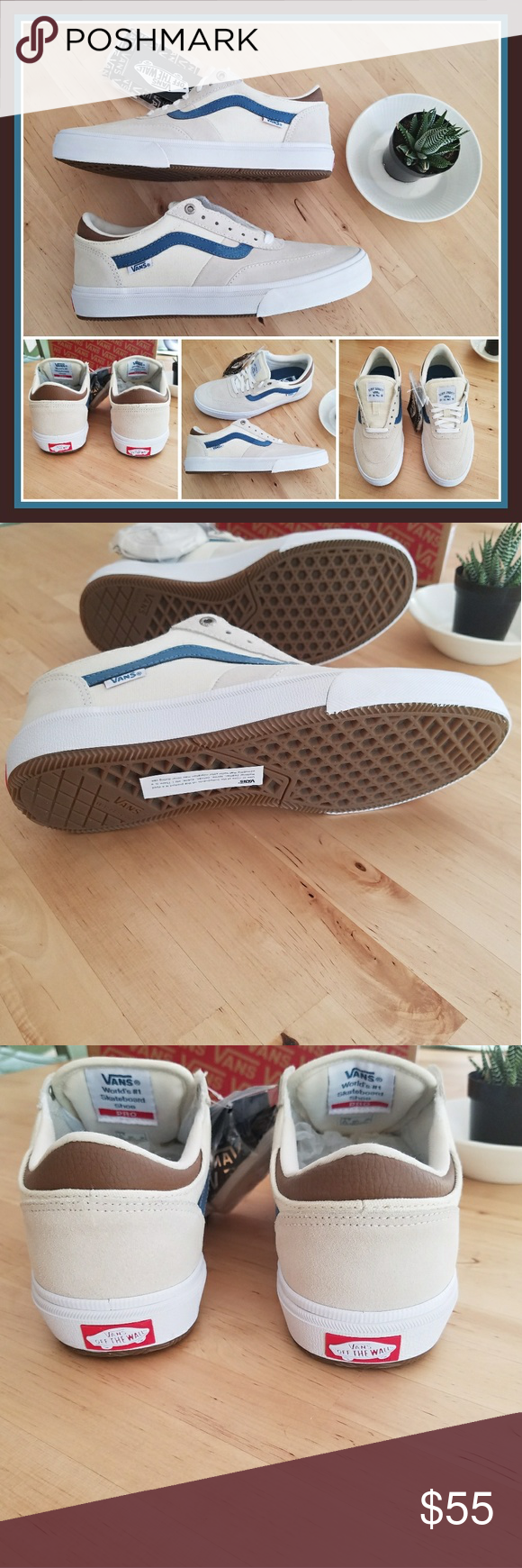 8aedeadb1e Vans Gilbert Crockett Pro 2 Antique white with blue and brown accents.  Brand new with box and tags. Comes with an extra pair of antique white  laces.