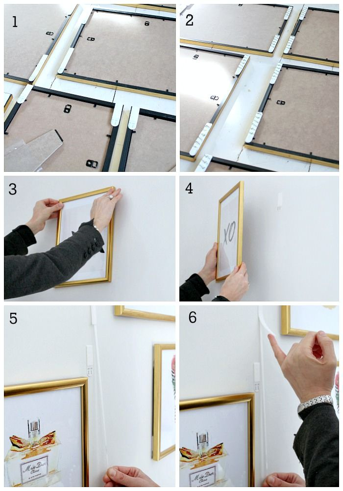 How To Create A Gallery Wall Without Hammer And Nails Gallery