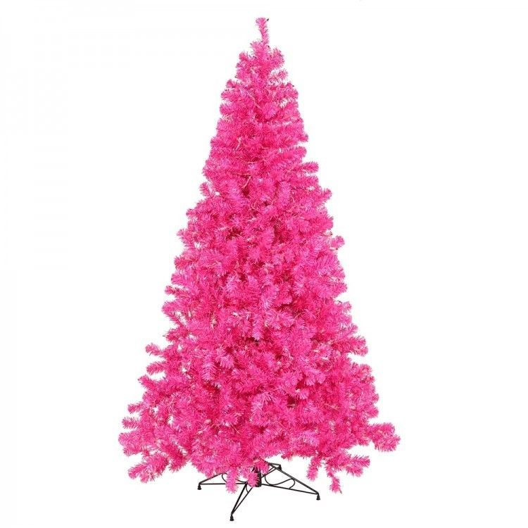 pink artificial christmas tree lighted 50 pink lights 3 ft xmas holiday decor vickerman