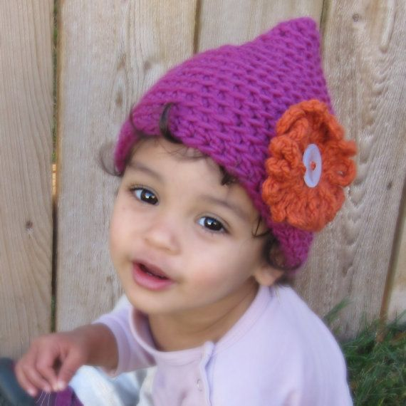 Pixie Point Hat Crochet Pattern Instant Download Elf Gnome Beanie