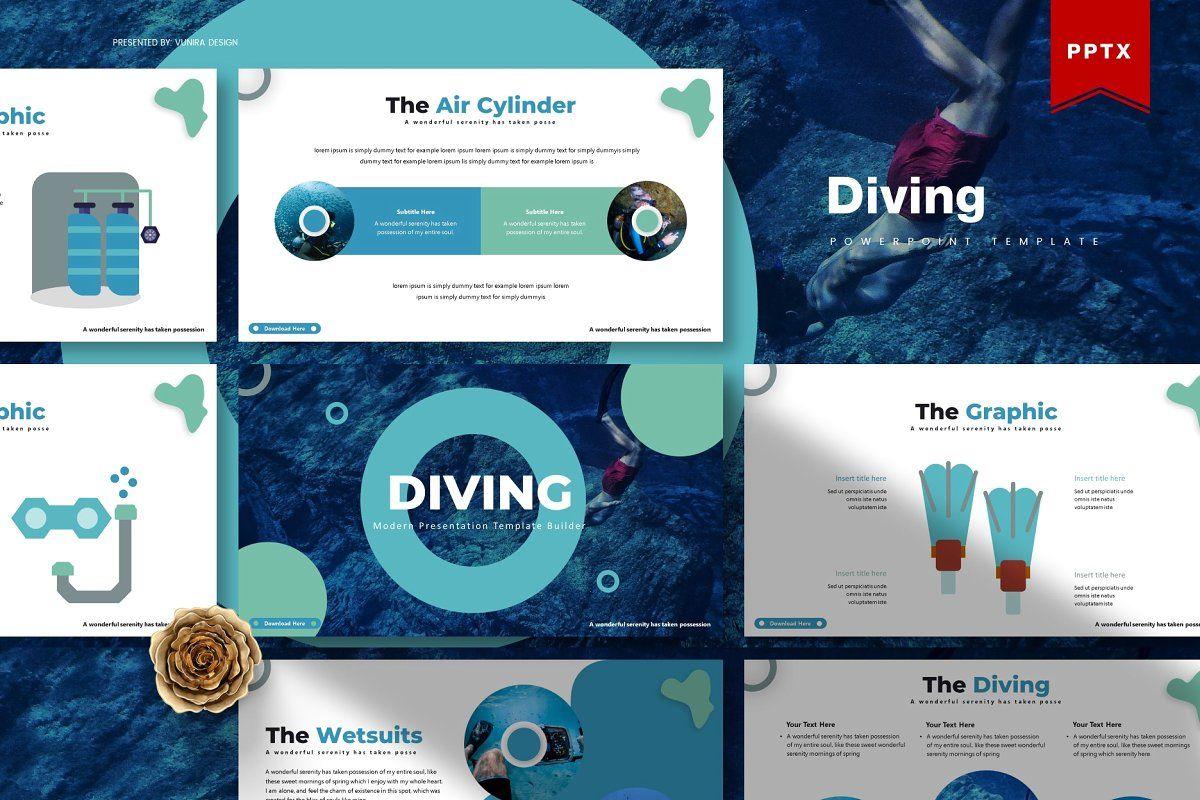 Diving  Powerpoint Templatepresentation design  presentation layout  presentation  presentation board design  presentation template