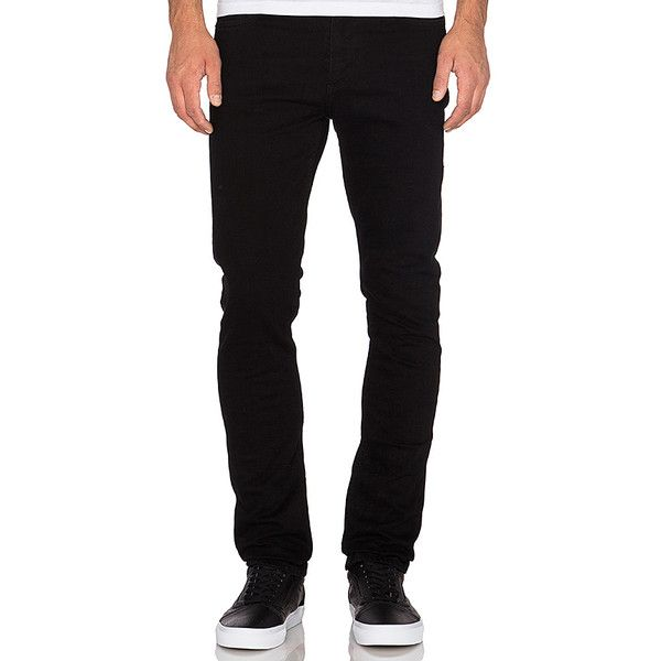AGOLDE Skinny ($130) ❤ liked on Polyvore featuring men's fashion, men's clothing, men's jeans, jeans, mens skinny jeans, mens super skinny jeans and mens skinny fit jeans