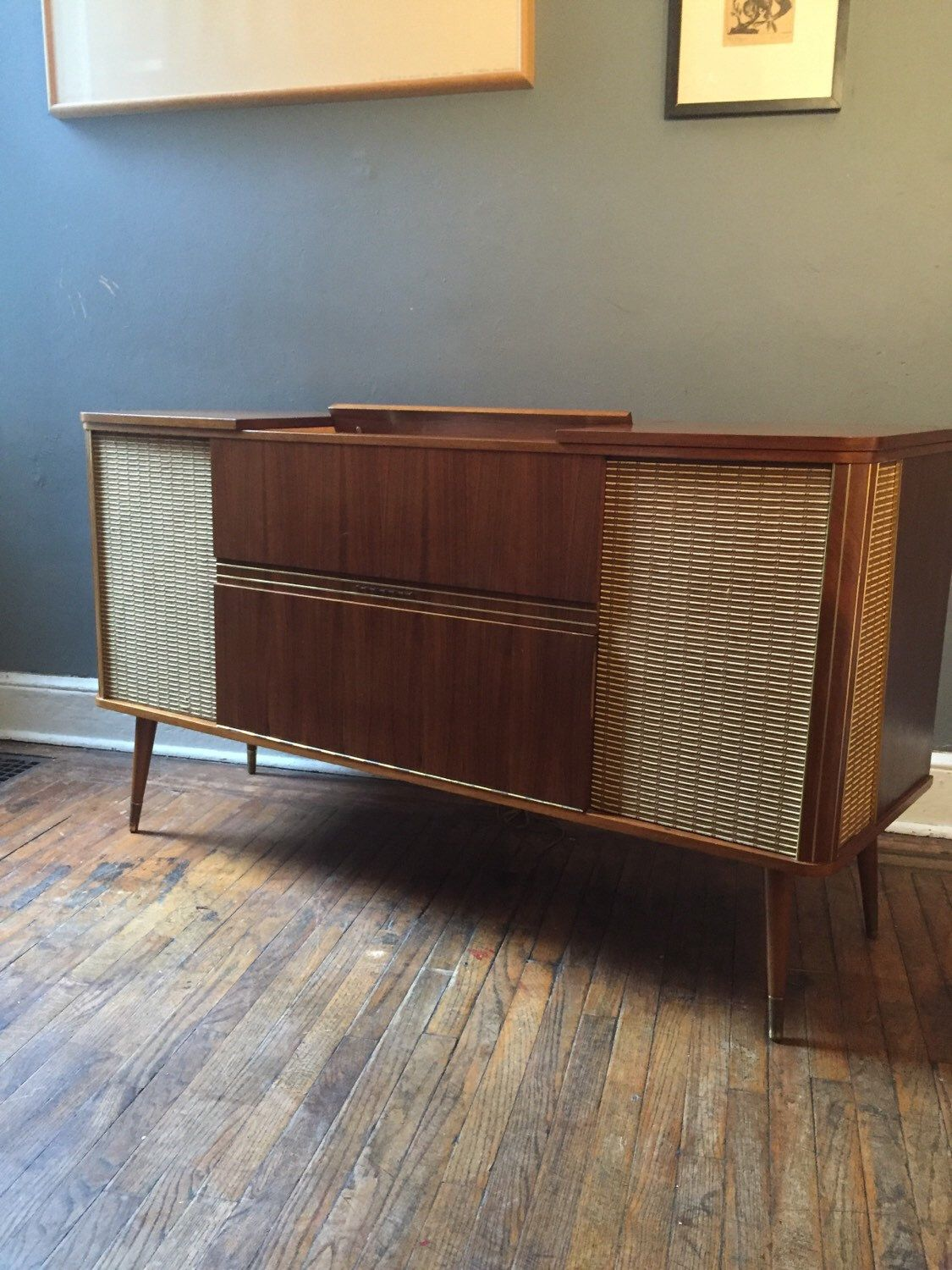 Mid Century Modern Console Midcentury Stereo Console Grundig Stereo Cabinet  By VintaDelphia On Etsy Https: