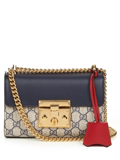 a7f309b9642 GUCCI Padlock Small Gg Supreme Cross-Body Bag.  gucci  bags  shoulder bags   leather  canvas  lining