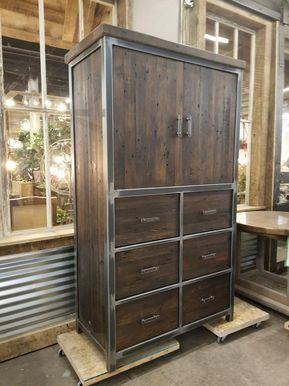 Industrial Furniture Armoire / Bedroom Furniture / Storage / Entertainment Center