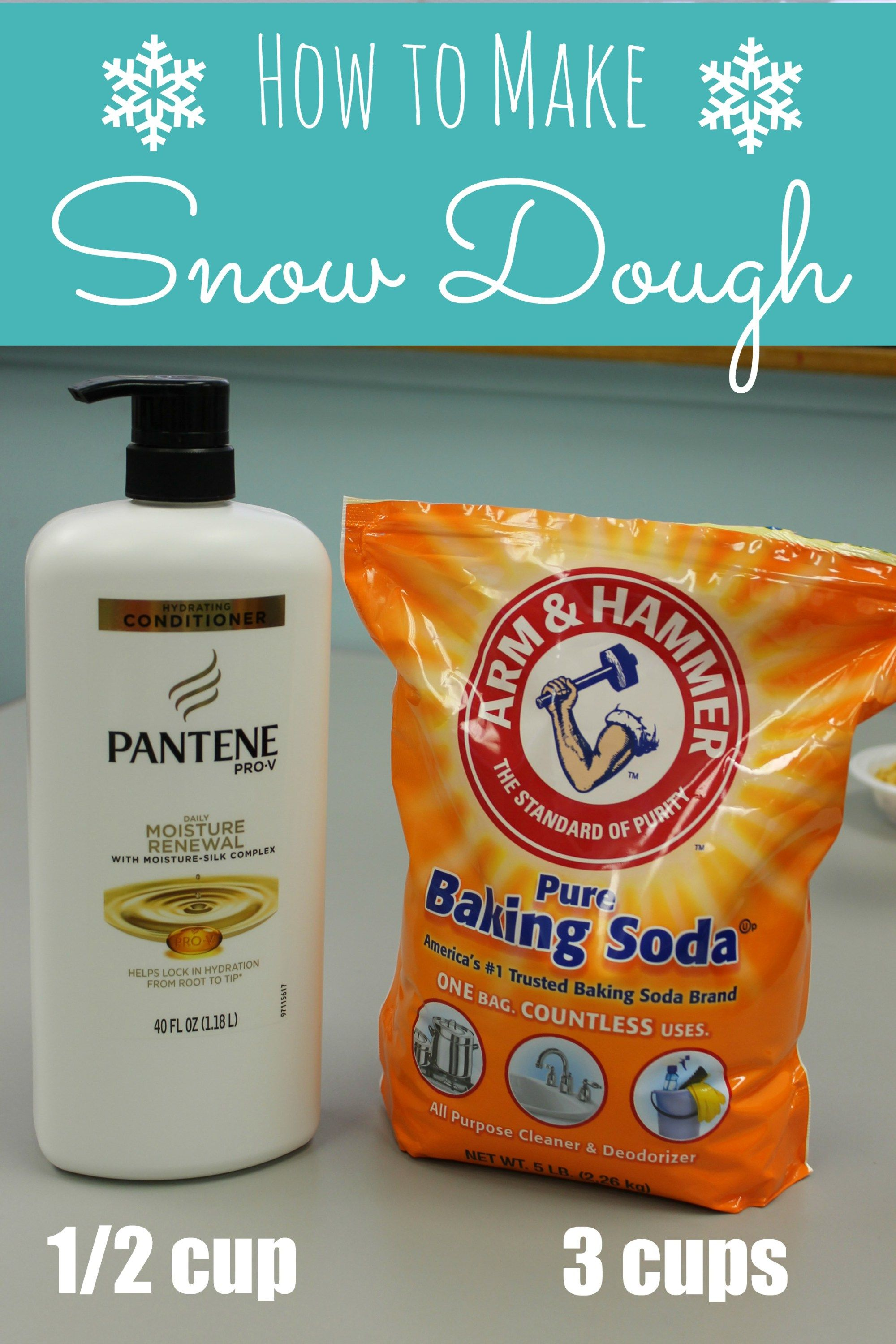How to Make Snow Dough - ONLY 2 INGREDIENTS! - Hap
