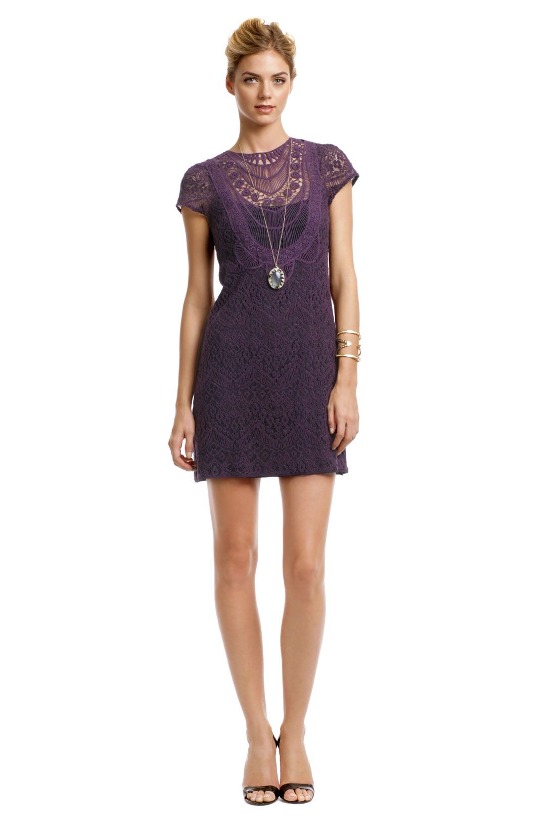294446e4d769 Never going to wear it--but it's too pretty not to pin. Nanette Lepore  Rustic Plum Lace Dress