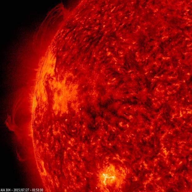 Vídeo da Nasa feito em julho mostra fluxos de partículas no Sol (Foto: NASA/Solar Dynamics Observatory/Steele Hill)