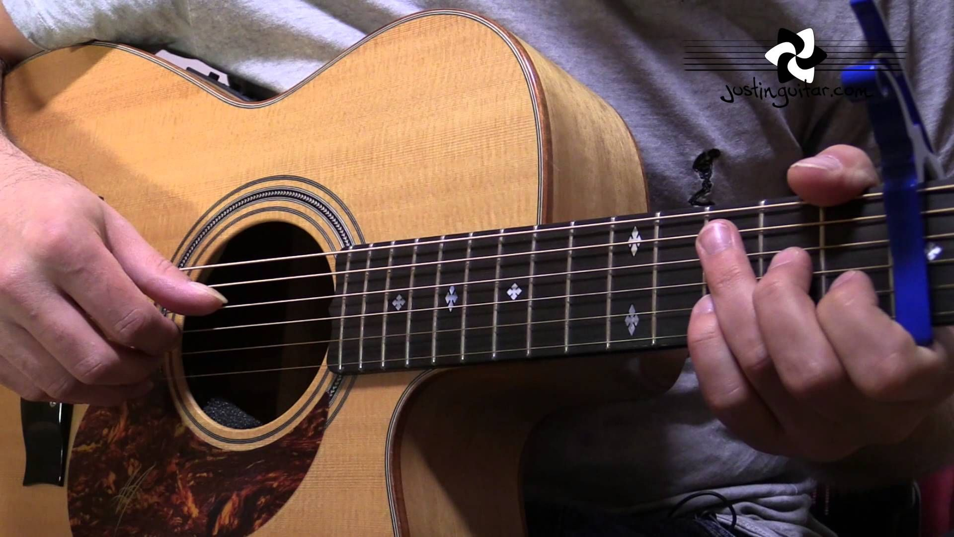 How to play Let Her Go by Passenger Guitar Lesson Acoustic Finger Style