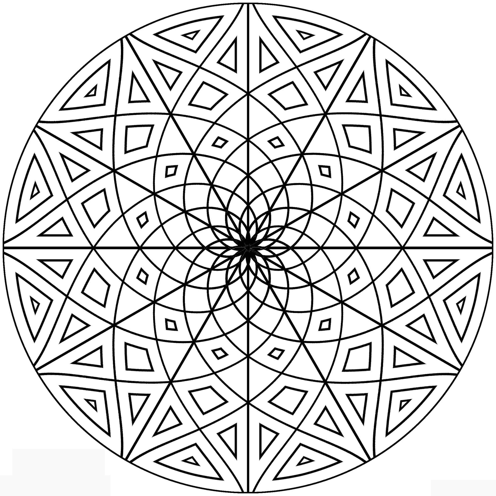 Free coloring pages kaleidoscope designs - Coloring Books