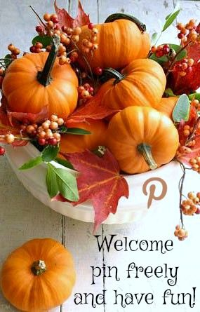 Welcome, pin freely and have fun ♥ Tam ♥ ♥ Welcome to My No Pin - natural halloween decorations
