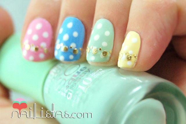 Uñas Decoradas En Tonos Pastel Con Huevos De Pascua Uñas