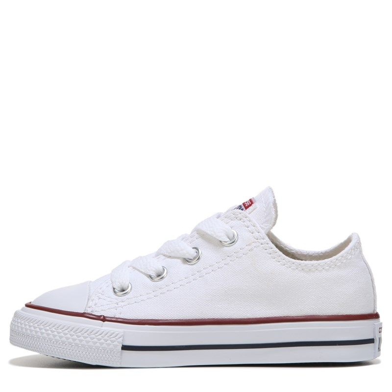 Converse Kids' Chuck Taylor All Star Low Top Sneaker Toddler Shoes (Optical White) #whiteallstars
