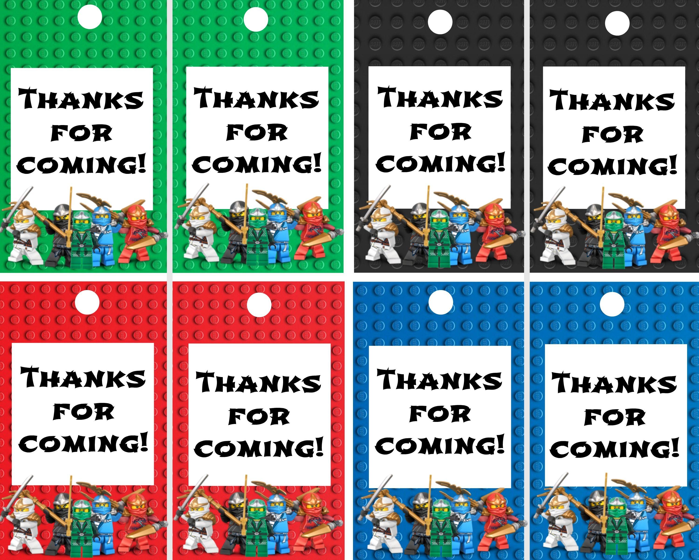 Ninjago Thank You Labels Lego Ninja Printables In 2018