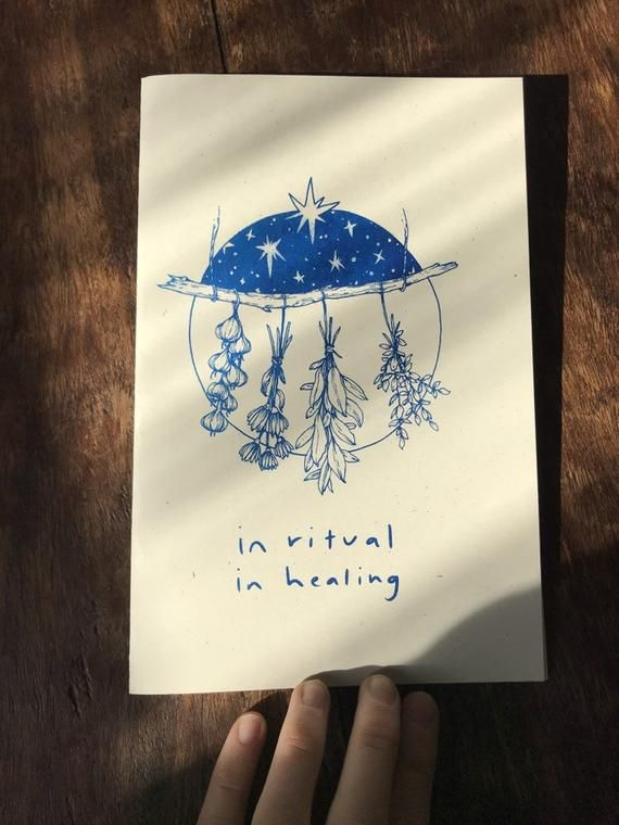 ZINE: In Ritual, In Healing- A zine about the magic of plants and how to use them. (Printed on a ris -   10 magic planting Illustration ideas