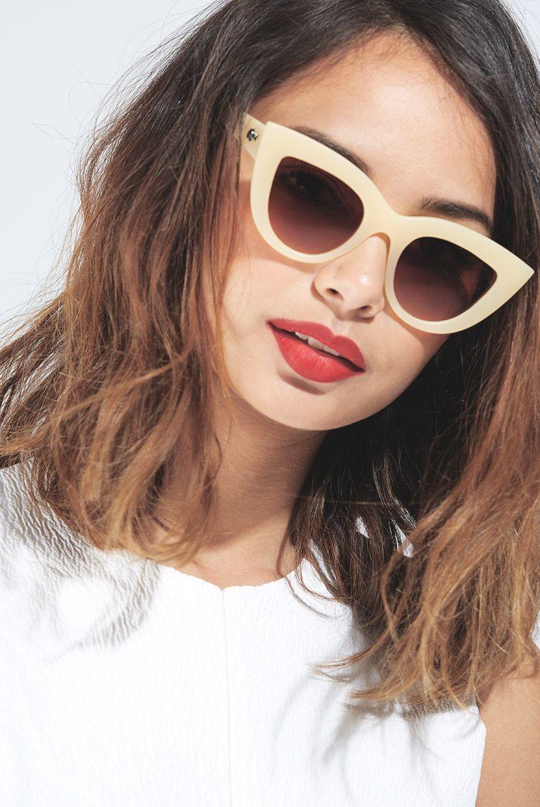 2f66bae607 Kitti Beige Sunglasses by Quay Eyewear