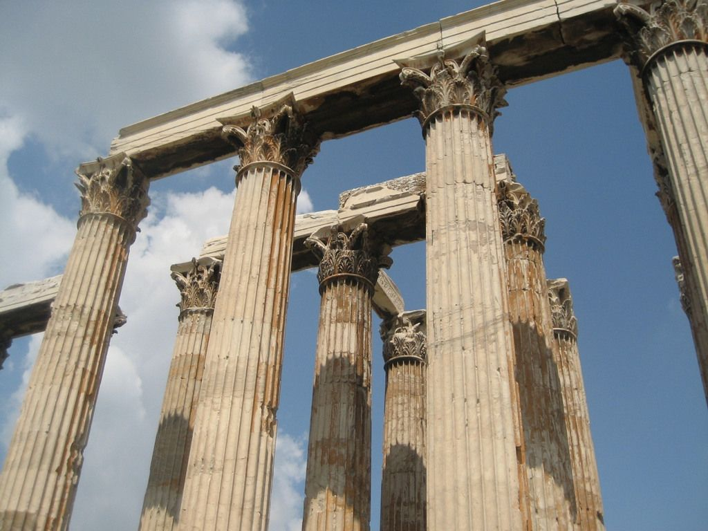 Of Olympian Zeus Athens Ancient Greek Architecture