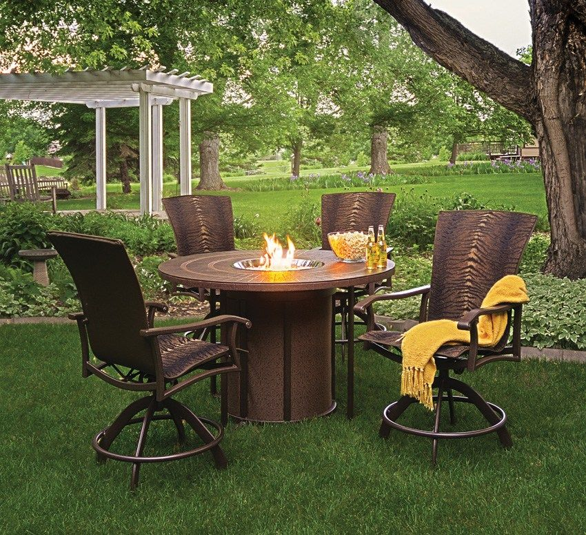 Interesting Patio Sets With Propane Fire Pit Table Ideas Garden