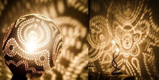 Vainius Kubilius handmade lampa z kokosoveho orecha 5