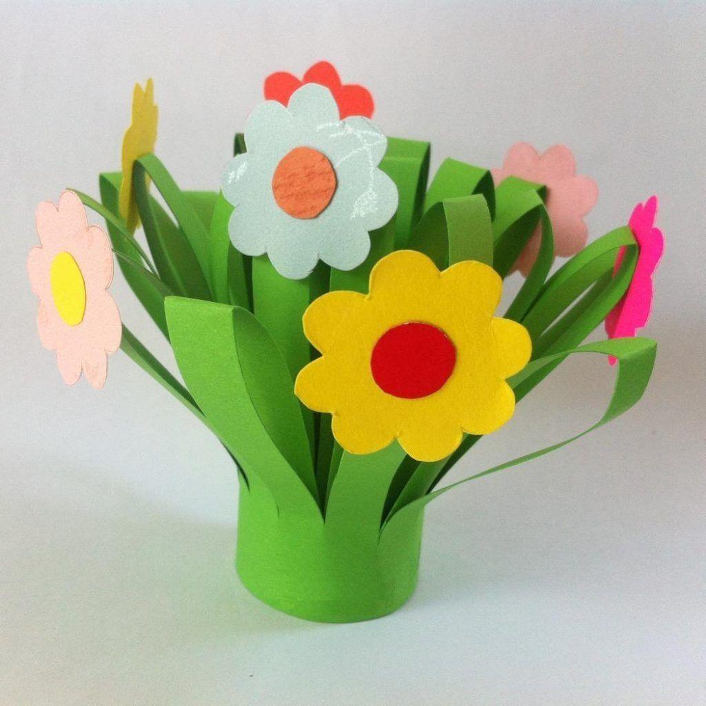 Paper Flower Bouquet Crafts And Summer Crafts