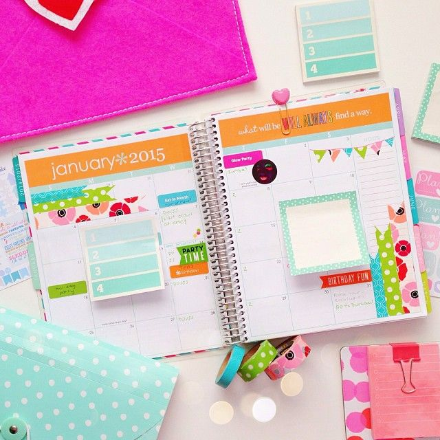 """""""Here's my January monthly spread for my @erincondren Life Planner 2015. Single click for shops. Double click if you want more planner photos! """""""