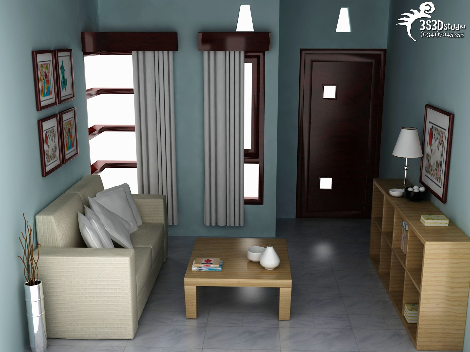 Interior Rumah Minimalis Sofa Ruang Tamu Desain interior