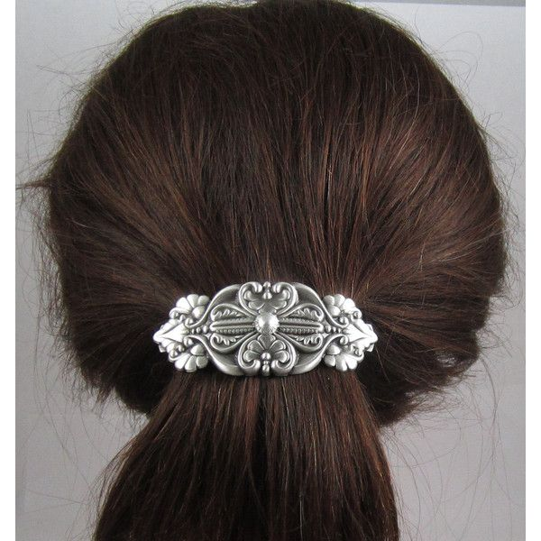 Old World Vintage French Barrette 80m Large Hair Accessories 22 Liked On Polyvore Featuring