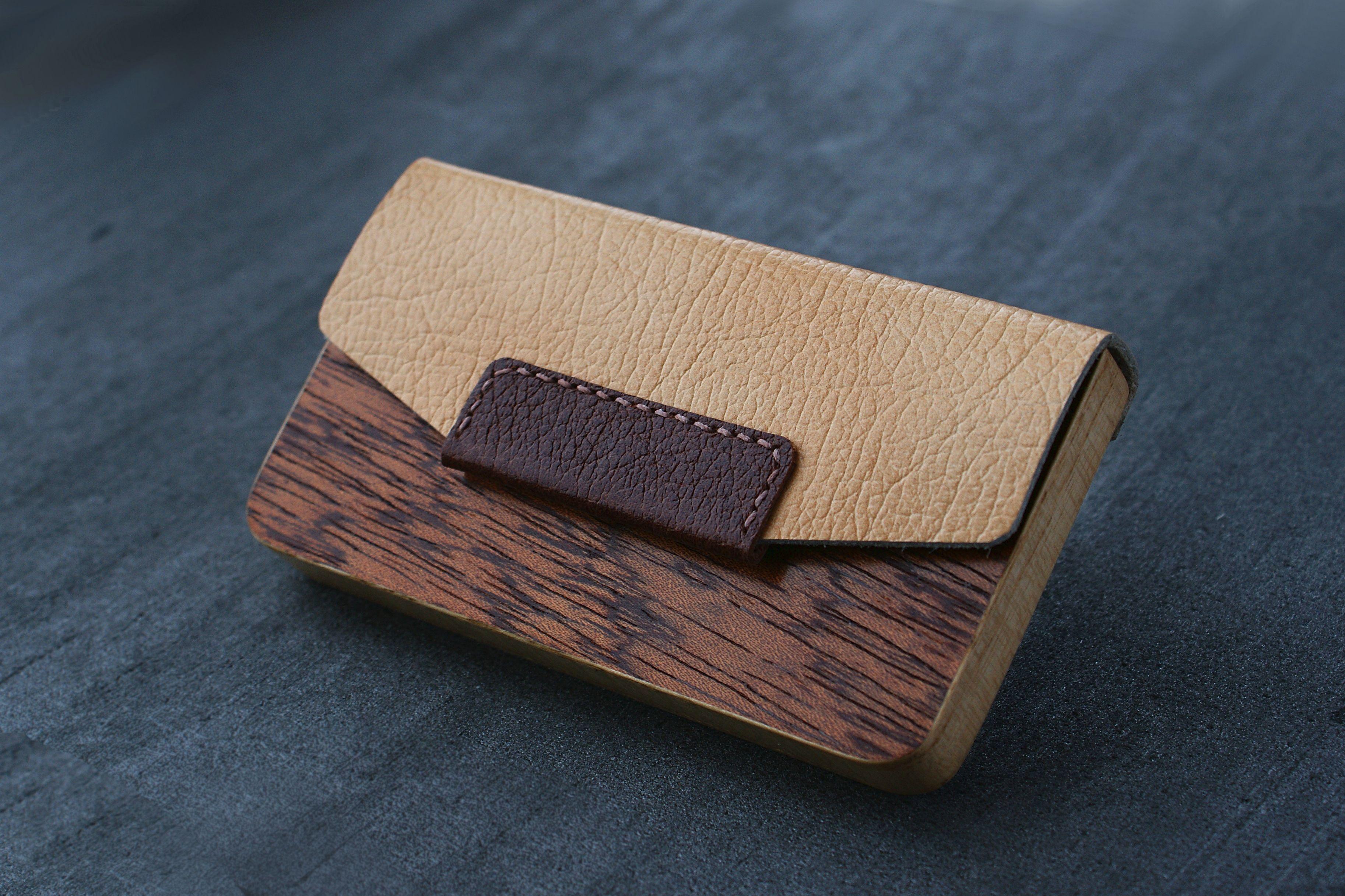 Blazer Luxury Wood Business Cardholder For 15 20 Business Cards Leather Busines Leather Business Card Case Leather Business Cards Leather Business Card Holder