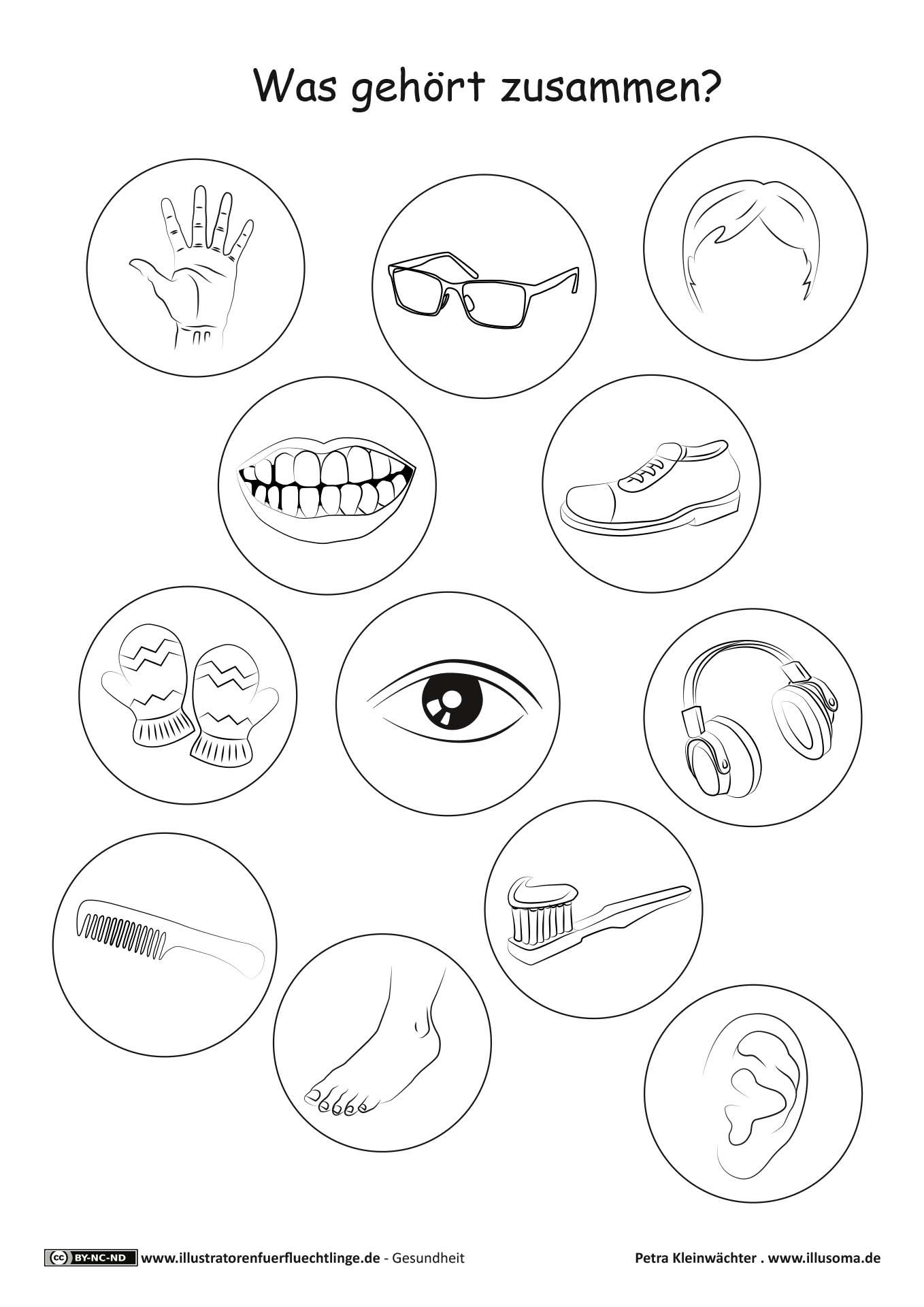 Download als PDF Gesundheit – Körper Körperteile Ratespiel – Kleinwächter