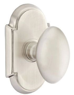 emtek 810eus15 satin nickel egg brass modern passage knobset