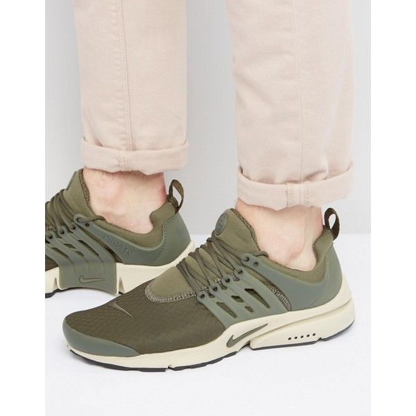 Nike Air Presto Essential Sneakers In Green 848187-301 featuring polyvore,  men's fashion,