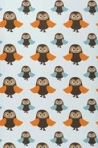 Owls | I love the 70s | Wallpaper patterns | Wallpaper from the 70s