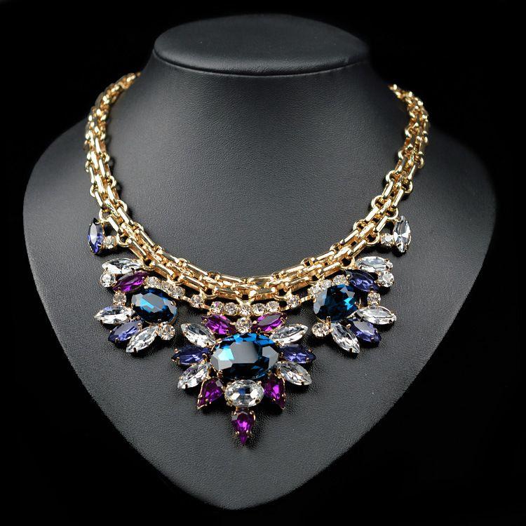 0d2134df0849 collier de marque bolsas marcas famosas luxury crystal cristal 2016 maxi  colare bijoux bijuterias bijouterie necklaces for women
