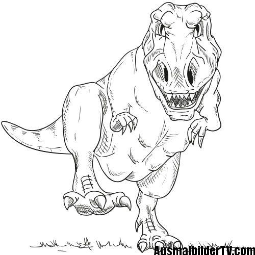 T rex ausmalbild Dinosaurier ausmalbilder Malvorlage