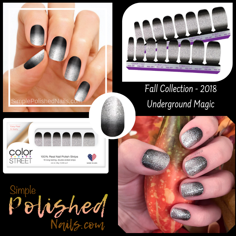 Color Street Underground Magic Glitter Nails Get An Edgy Update
