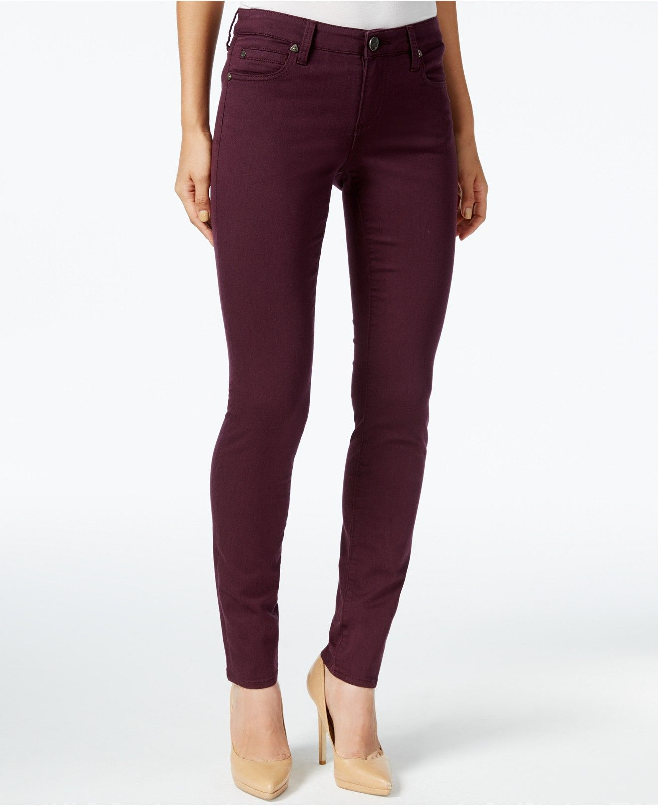 Kut from the Kloth Colored Skinny Jeans - Jeans - Women - Macyu0026#39;s | Style Inspiration | Pinterest ...