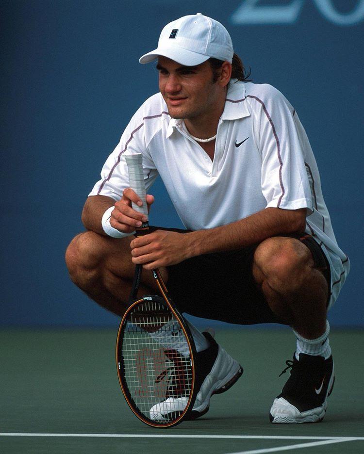 Roger Federer On Instagram Waybackwednesday For Roger S First Us Open In 2000 Claus Bergmann Roger Federer Tennis Racket Instagram