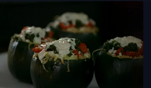 Fearne Cotton Stuffed Squash With Pesto And Vegetables