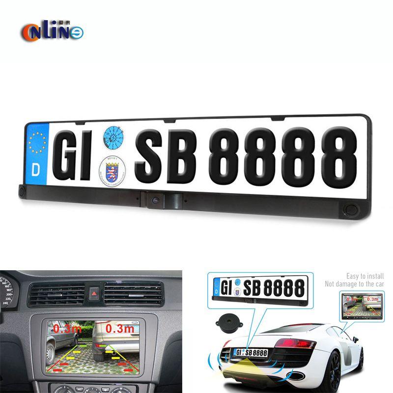 best price hd ccd eu european car license rear view camera front ...