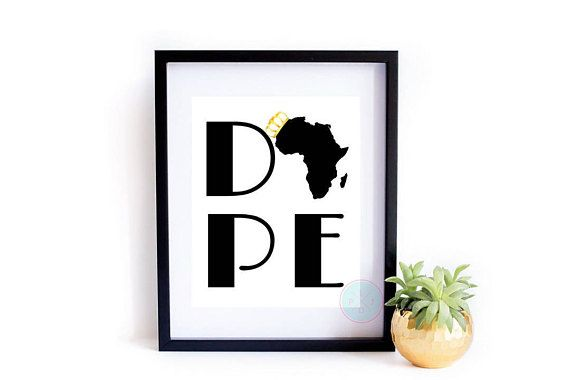 Printable art dope wall african decor hip hop quotes afrocentric print afro also rh pinterest