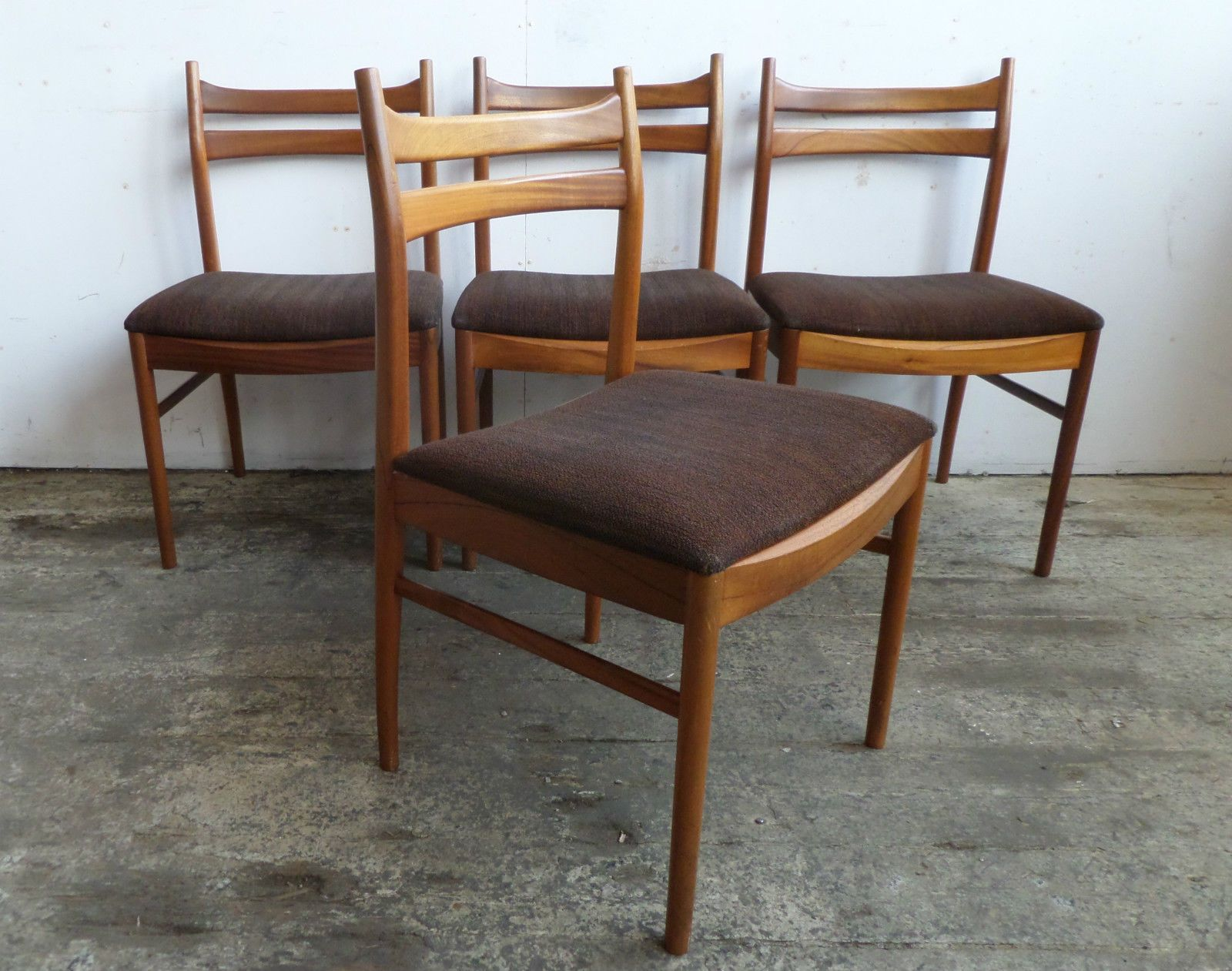 set modern dining chair century mid elm west room and chairs table vintage